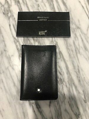 Montblanc MEISTERSTUCK 14108 Business Card Holder Black Italian Leather