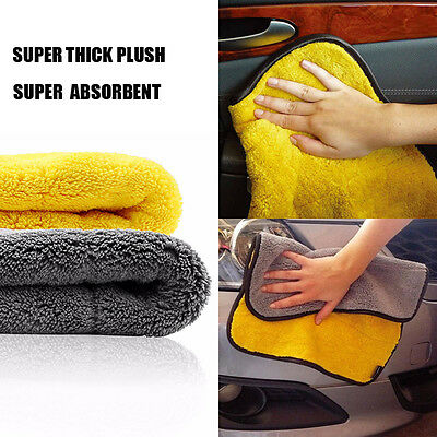 US Super Absorbent Car Cleaning Towel Wiping Cloth Car Care Coral Velvet Soft