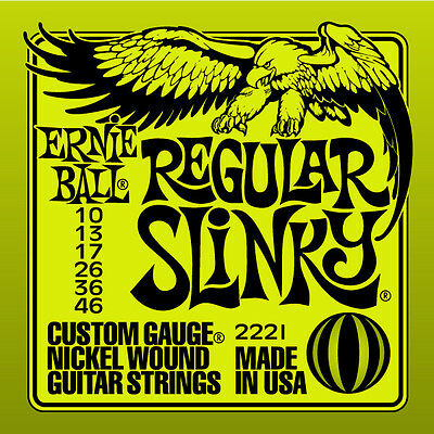 Ernie Ball 2221 Regular Slinky Nickel Wound Guitar Strings 10-46