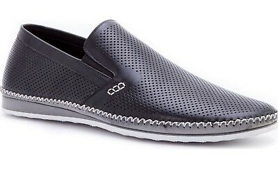 31d43466567 NEW ZANZARA MENS MERZ Slip-On Premium Perforated Leather Shoes