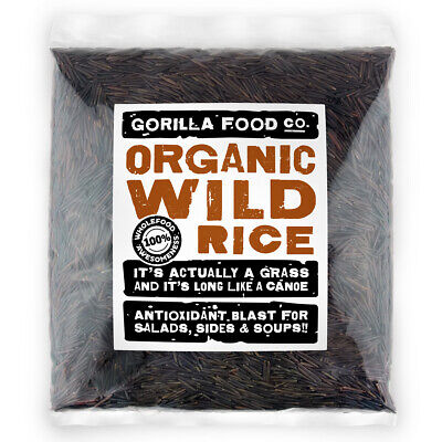 Gorilla Food Co. Organic Wild Rice - 200g-3.2kg