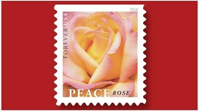 One Book Of 20 Flower Love Wedding Usps First Class Forever Postage Stamps