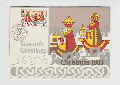 Isle Of Man, 1983 Christmas Card from the IOM Postal Authority signed Chairman