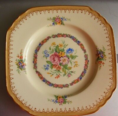 Keeling & Co Ltd Losol Ware,Late Mayers,England square Plate.floral centre