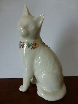Vintage 1994 Lenox China Jewels Collection Ivory Cat Figurine Excellent