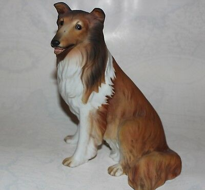 HOMCO COLLIE Dog Vintage 1986 Large Signed Lassie Mint Home Interiors