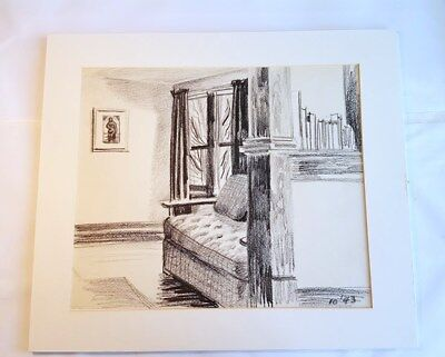 Original Charcoal Drawing by Catherine Catanzaro Koenig 1943