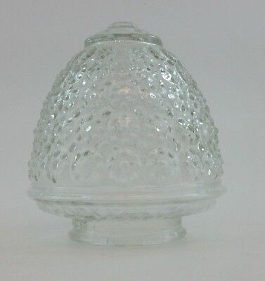"Vintage Glass Lamp Shade Honeycomb Style Small 3"" Opening 2 1/2"" Interior (T1)"
