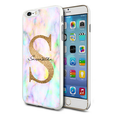 Personalised Marble Phone Case Cover for Apple Samsung Initial Text Name - E23