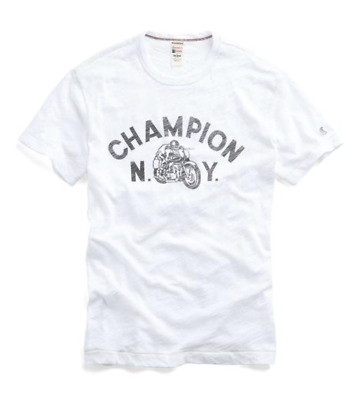 809373149122 Todd Snyder + Champion Mens Moto Sports Slub Tee Shirt Made in Canada NEW L