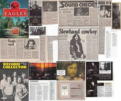 THE EAGLES : CUTTINGS COLLECTION -interviews adverts-