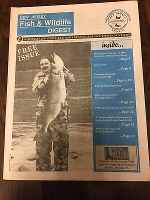 New Jersey Fish And Wildlife Digest 1998 Freshwater Fishing Issue RECORD MUSKY