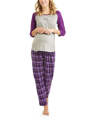 Chili Peppers Maternity 3-pc Raglan Sleep Shirt w/ Pants & Shorts Sleep Set PJs