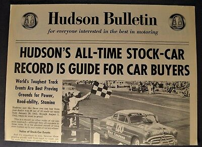 1952 Hudson Bulletin Brochure Hornet Commodore Wasp Pacemaker Excellent Original