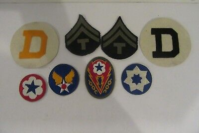 Lot of 8 Military Unique Rare? Vintage Assorted WW2 WWII WW II Patches NR