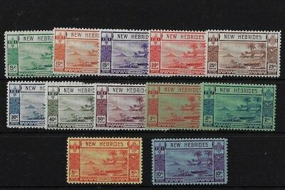 New Hebrides Sg52/63, 1938 Gold Currency Set, Mounted Mint, Cat £325