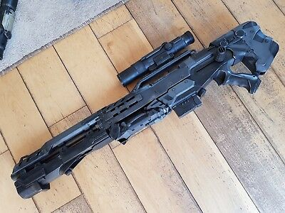 Professionally Painted Custom Nerf Halo  Longshot Blaster Gun and Scope Cosplay