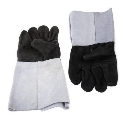 1 Pair Finger Welding Gloves Cowhide Leather Heat Shield Cover Guard Protection