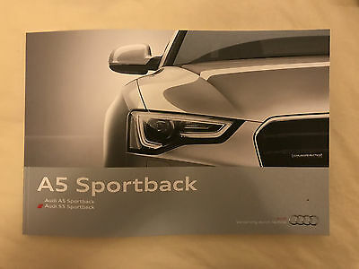 Audi A5 and S5 Sportback Previous Generation Launch Brochure