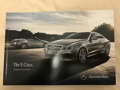 Mercedes Benz E Class Coupe and Cabriolet Launch Brochure