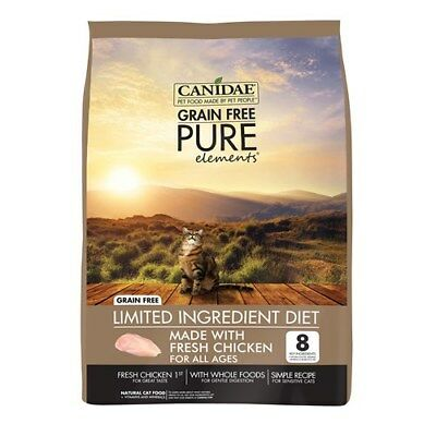 New Canidae Cat Food Grain Free Pure Adult Kitten & Senior Elements 2.27kg