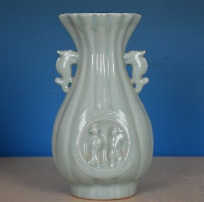 Fine Antique Chinese Monochrome Porcelain Vase Rare A9011