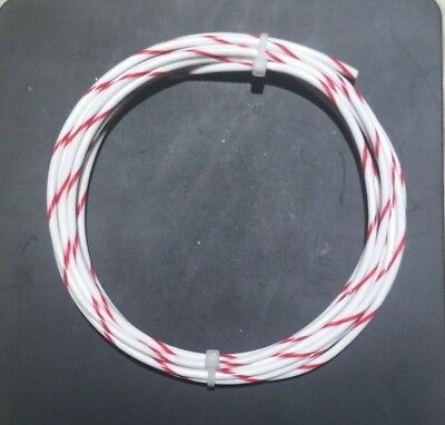 18 AWG Mil-Spec Wire (PTFE) Stranded Silver Plated Copper Type E, Wht/Red 10 ft