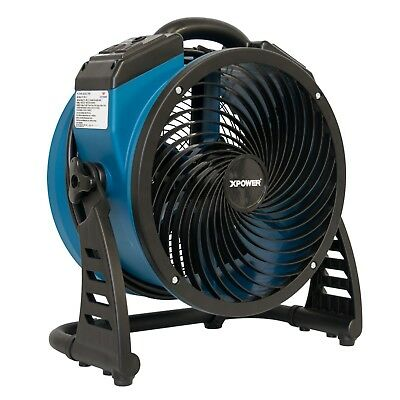 XPOWER P-26AR Compact Industrial Axial Fan, Air Mover with Daisy Chain Outlets
