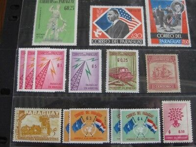 PARAGUAY Selection of Good Stamps. Fifteen in Total.