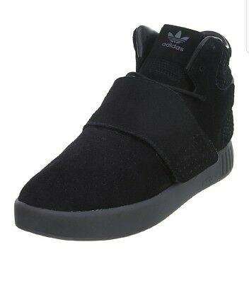 BY3632  New Men s ADIDAS Originals Tubular Invader Strap Sneaker - Black bcc3ccc45