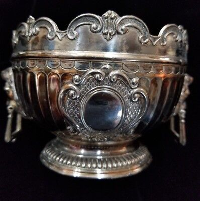 Antique Victorian Silver Plated Rose Bowl Rare!