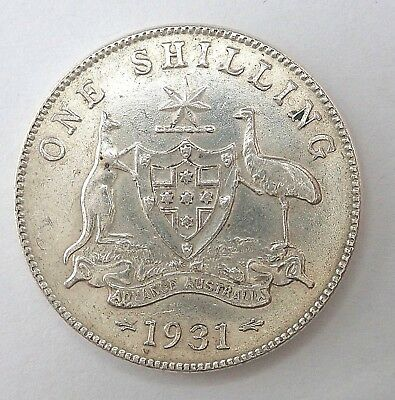 1931  Australian  Shilling Coin  -  Full Eight Pearls