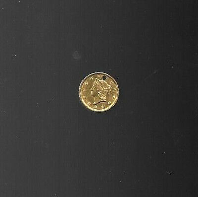 1851-O $1 Gold Coin has hole in it