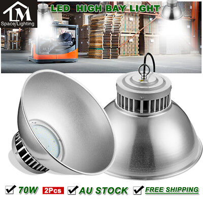 2X 70W LED High Bay Light Industrial Factory Warehouse Commercial Shed lighting