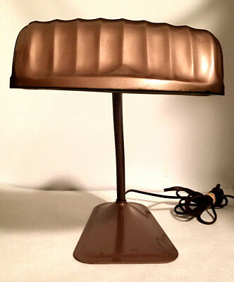 AMAZING VINTAGE 40's GOOSE NECK INDUSTRIAL LAMP GENERAL ELWOOD INDIANA GOOSENECK