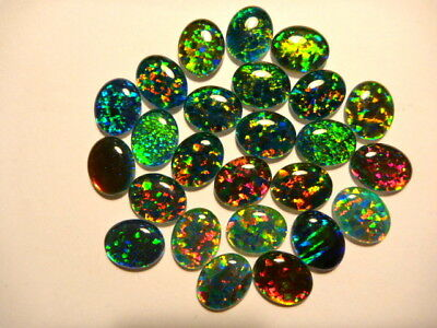 Synthetic Loose Triplet Opal Stones Parcel lot of 10x8mm Oval 25 pieces. 080063