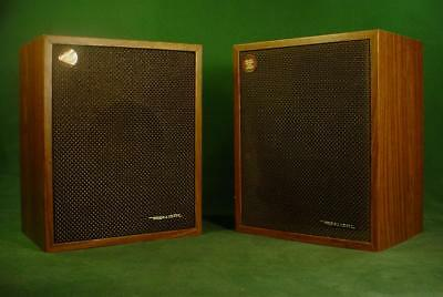 Vintage Retro Realistic 40 913B Bookshelf Speakers Walnut Grain Working