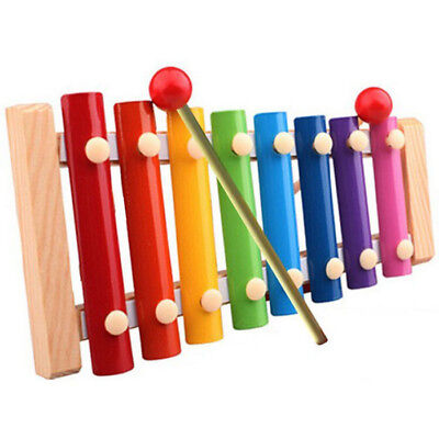 8Notes Kid Baby Musical Toys Xylophone Wisdom Development Wooden Instrument UK