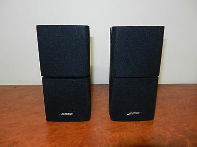 """BOSE DOUBLE CUBE SPEAKERS x2 in Black """"Good Condition""""*"""