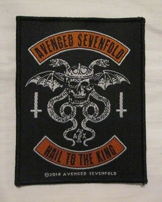 Avenged Sevenfold Hail to the King Woven Patch 4X3 inches