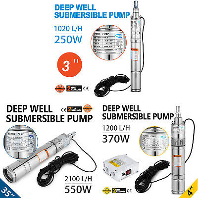 """3""""/4""""/3.5"""" Borehole / Deep well pump 0.25/0.37/0.55kW Submersible water pump"""