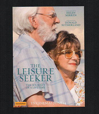 THE LEISURE SEEKER Movie Double Pass Cinema 2 Tickets Road Trip Comedy Adventure