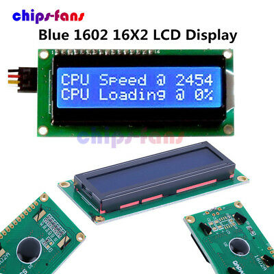 1/2/5/10PCS 1602 16x2 Character LCD Module HD44780 Controller Blue For Arduino