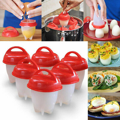 Original Egglettes Egg Cooker Hard Boiled Eggs without the Shell 6 Egg Cups HOT