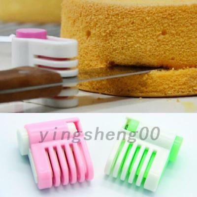 2Pcs 5 Layers Kitchen DIY Cake Cutter Bread Leveler Loaf Slicer Cutting Fixator