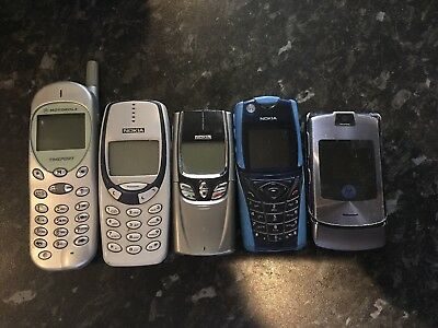 old mobile phones mixture Of 5