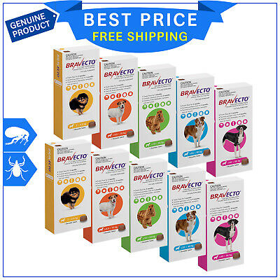 BRAVECTO for Dogs All Sizes 2 Chews flea and tick treatment for 6 months