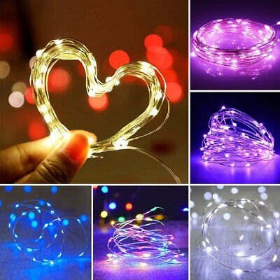 50-500 LED Solar Power Fairy Lights String Garden Outdoor Party Wedding Decor