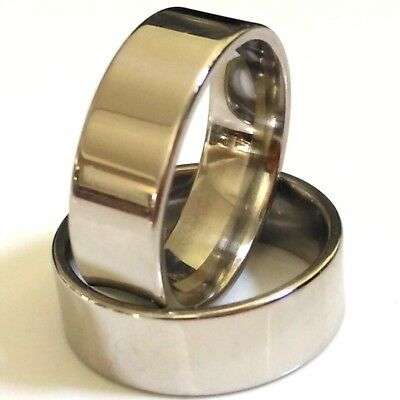 Job lots 30pcs Comfort-fit Quality 8mm Silver Plain Stainless Steel Band Rings