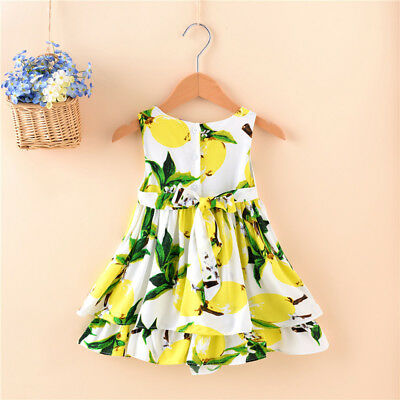 2-5Years Toddler Baby Kids Girl Princess Summer Casual Dress Sundress Clothes TE